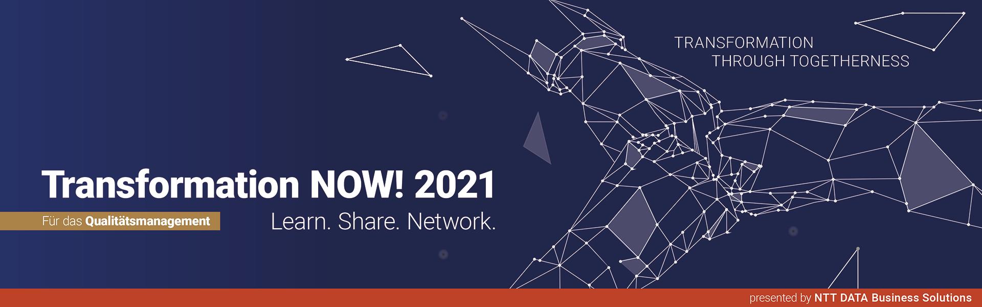 Transformation NOW! 2021 für das Qualitätsmanagement
